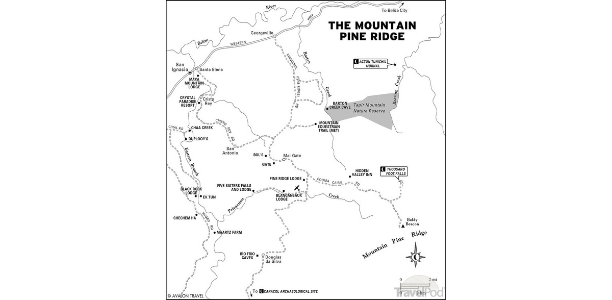 map-of-mountain-pine-ridge-district-belize-n3-san-antonio