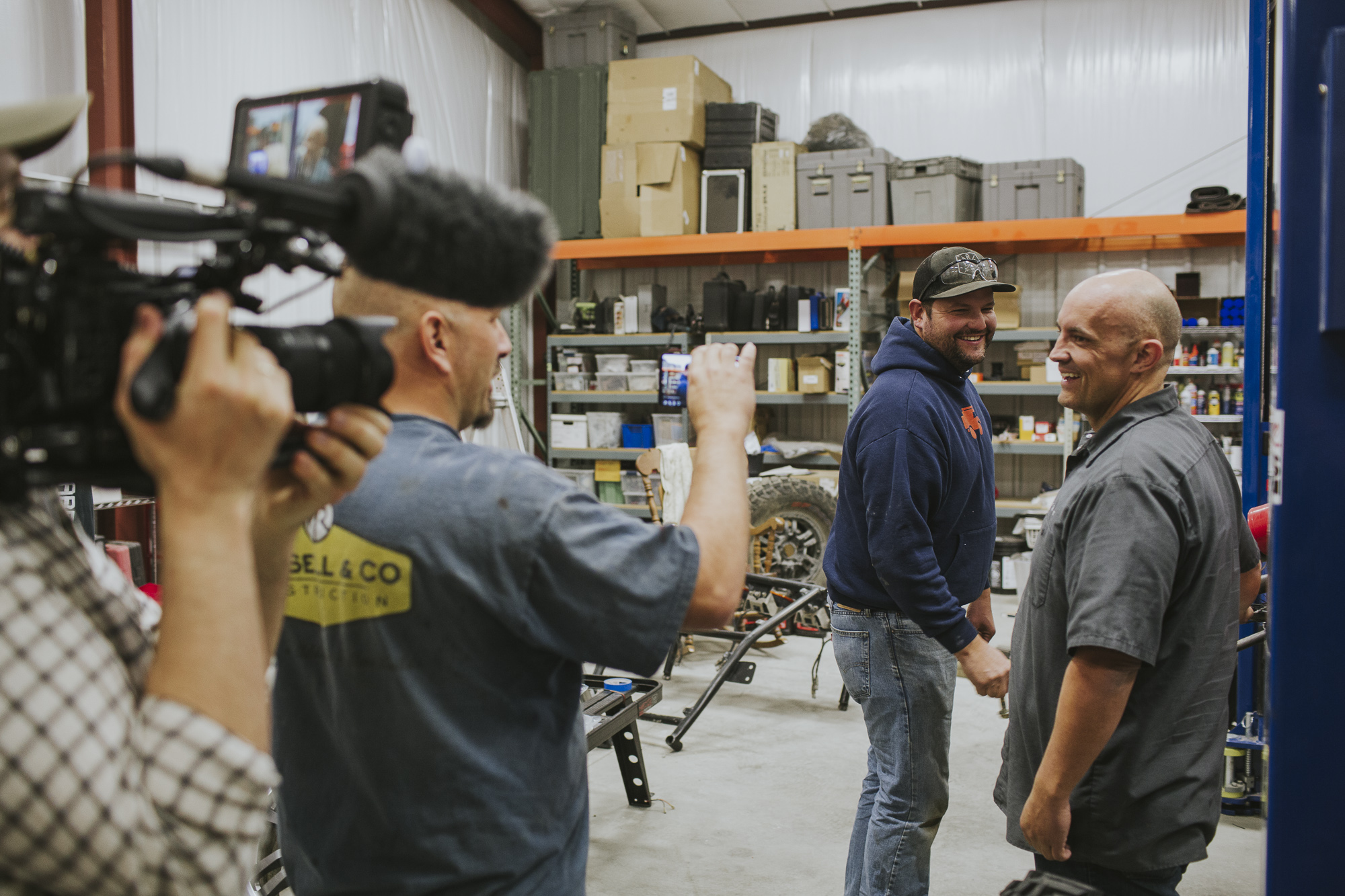 Film crew documents two members of Canguro Racing team